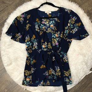 Beautiful Navy Floral Blouse